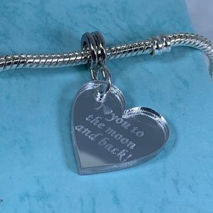 Jewelry - I love you to the moon and back European charm